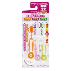 Combi teteo набор зубных щеток, 3 уровня 1-9 мес.+